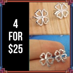 Jewelry - 4 FOR $25 🎁🎄🍾🥂 Clover Earrings